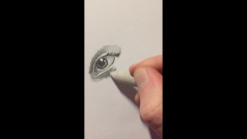 Реалистичный глаз за 2 минуты))