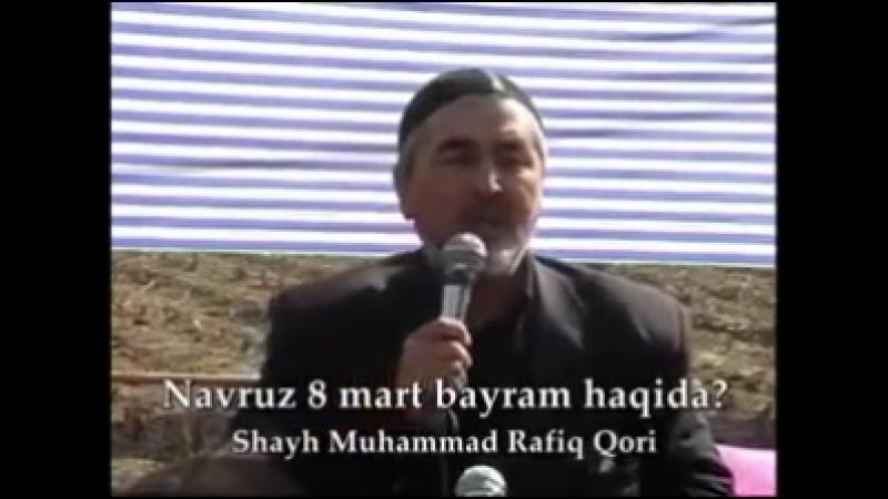 Rafiq qori 8 mart haqida