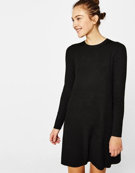 Короткое платье А-силуэта