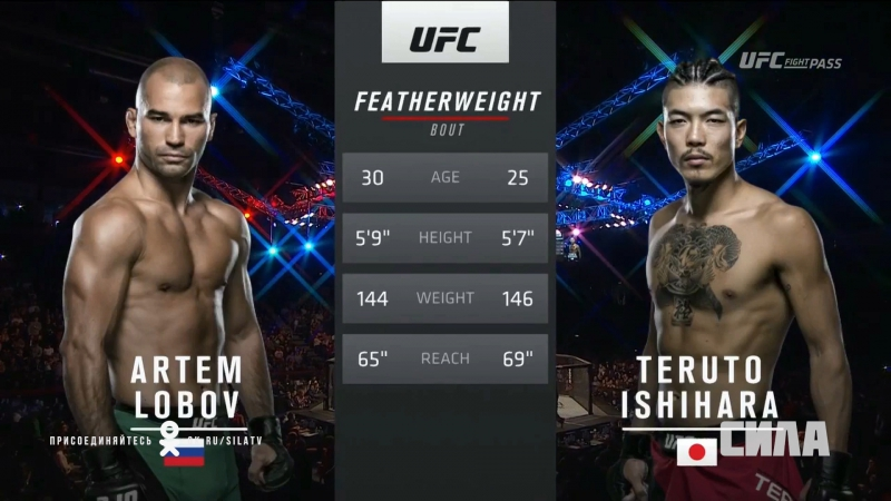 UFC Fight Night Artem Lobobv vs Teruto Ishihara