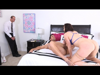 Chanel Preston (Coming Home to a Surprise) [2017, Blowjob, Brunette, Cuckold, Deep Throat, Fake Tits, MILF, 1080p]