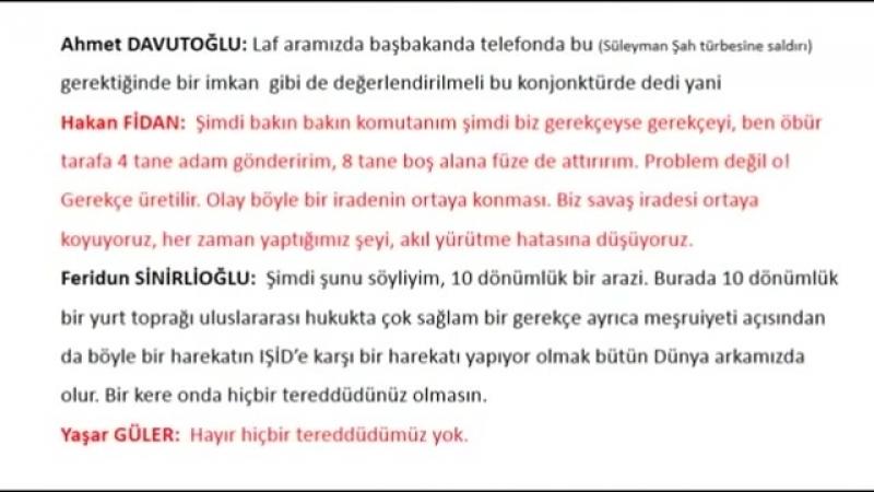 Hakan Fidan Ahmet Davutoğlu l SAVAŞ PLANI 2.Kısım (ŞOK SES KAYDI) - YouTube