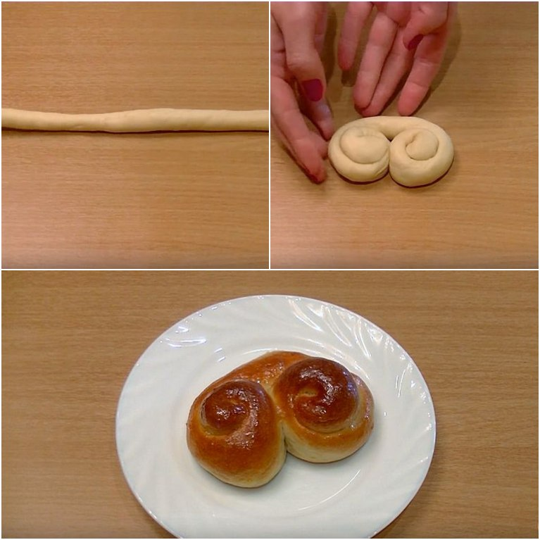 Как сделать красивую форму булочкам с фото 126