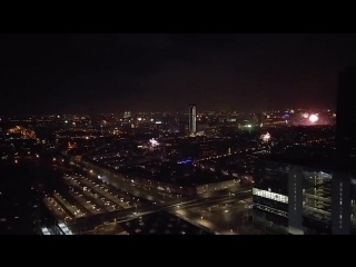 2018 New Year Fireworks in the Hague The Netherlands