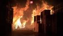 Крупный пожар на складе в Берлине