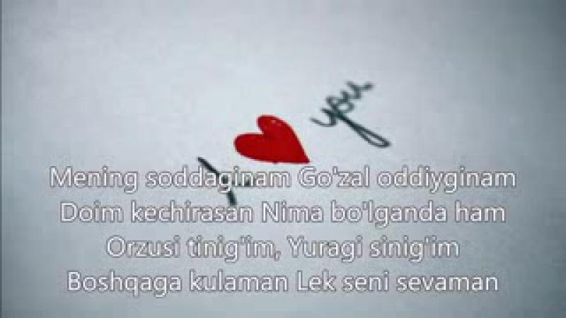 Farrux Xamrayev - Lek Seni Sevaman (Lyrics), _Qo'shiq Matni Bilan__low