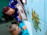 Уроки с бабушкой, всегда весело.