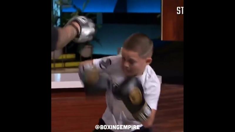 Америкалық кішкентай Мейвезерге теңеген боксшы бала