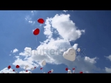 stock-footage-balloons-in-the-sky-balloons-in-the-form-of-red-and-white-hearts-soar-in-the-sky-slow-motion-at-a.mp4