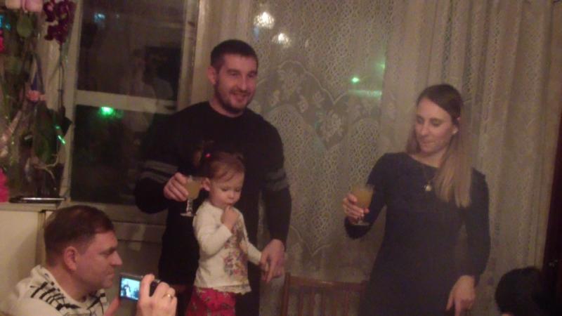 Вика Коля Вадим Яна поздравляют Бабулю Свету с Днём рождением 8 февраля 2018 год