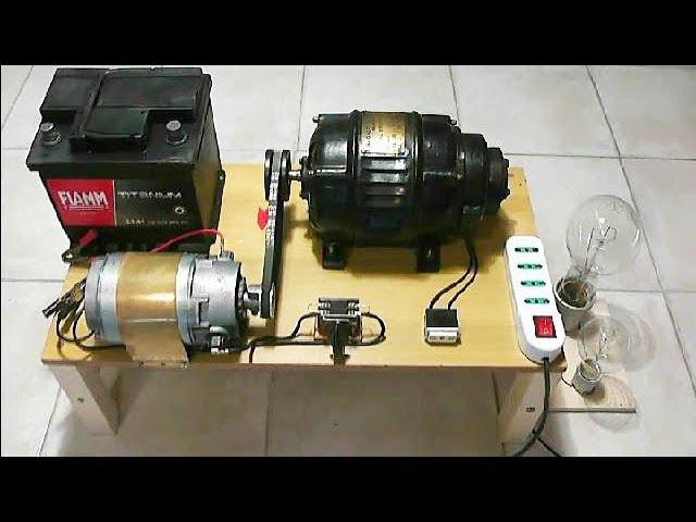 Alternator 220V Motor 12V charging system