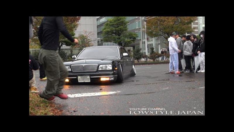 (Long ver.)【極低 亀 まとめ】脱出できるのか!? 2015 StanceNation - slammedcar camber gets stuck スタンスネーシ