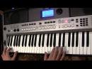 Светка Соколова на синтезаторе Yamaha PSR E443 в медленном темпе разбор