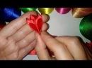 Лепесток Канзаши с тремя острыми краями. Мастер класс\ DIY \ サテンリボンの花\ Flower of satin ribbons