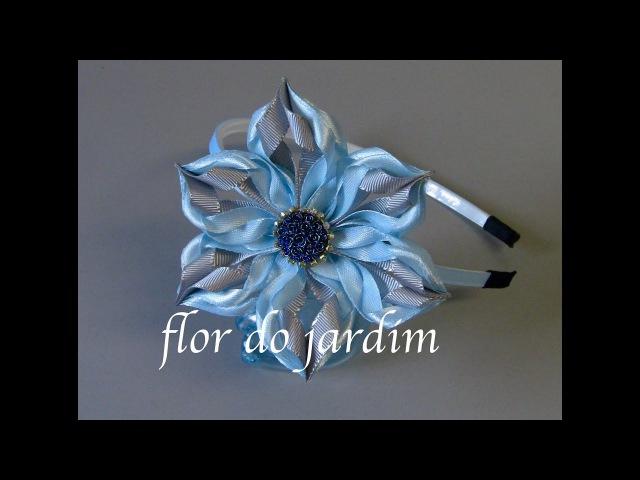 Flor floco de neve DIY Fleur flocon de neige Snowflake flower