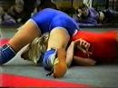 Very tall ans slim girl vs fit blonde hard female junior wrestling math