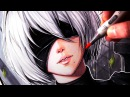 Let's Draw 2B from NIER AUTOMATA FAN ART FRIDAY