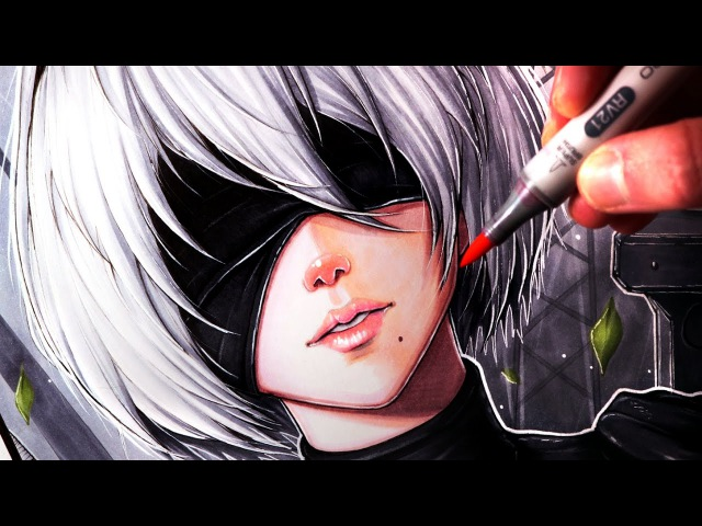 Let's Draw 2B from NIER: AUTOMATA - FAN ART FRIDAY
