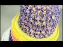 Торт, украшенный гортензиями из крема
