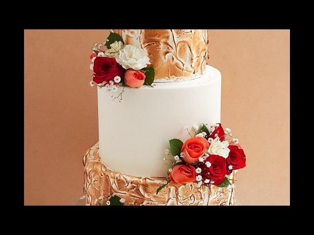 3 Tier Torched Meringue Wedding Cake- Rosie's Dessert Spot