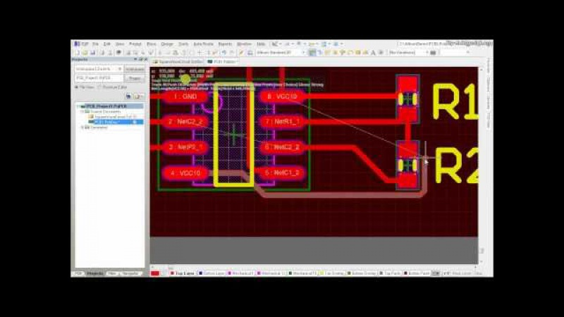 Altium Designer Tutorial Schematic capture and PCB layout (2of2)