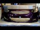 Бампер передний Hyundai Solaris цвет Фиолетовый (Россия)