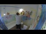 Школа ремонта Роспись стен в ванной комнате (старинный стиль Рококо)