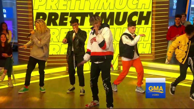 PRETTYMUCH perform on GMA