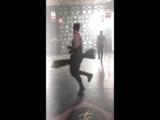 Training day with Harry Shum jr