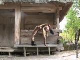 Flexible Nastya shows her extreme splits