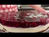 Творожный Торт с Вишневым Желе _ Cherry Cake Recipe