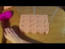 Вязание спицами Ажурный волнистый узор с веточками Openwork wavy pattern with twigs - YouTube 360p