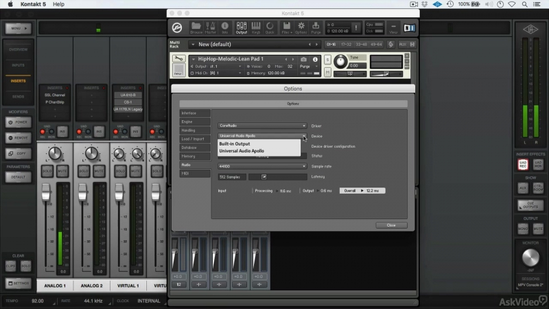 10. Virtual Channels [Ask Video] Universal Audio 201: Learn The Mix Console UAD2 [2016, ENG]