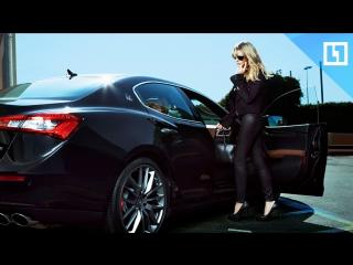 Самая сексуальная дрифтерша тестирует очень дорогую Maserati