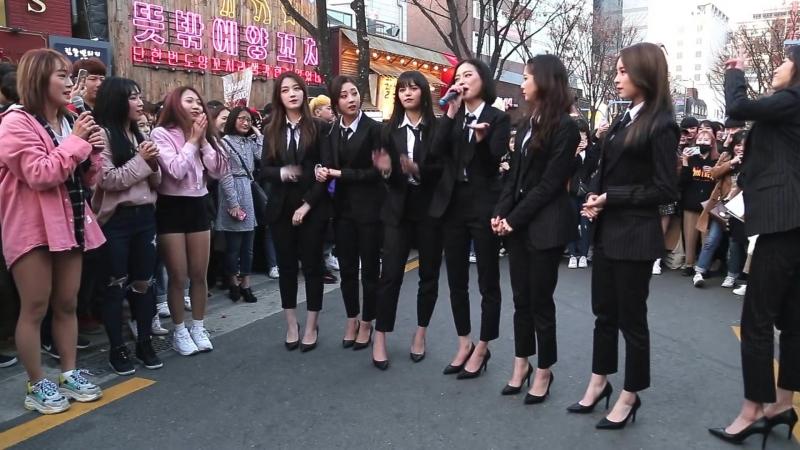 JHKTV] hong dae k-pop dance 씨엘씨(IDOL) 다이아나공연중 습격사건