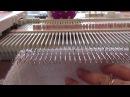 Оформление круглой горловины подгибом на вязальной машине