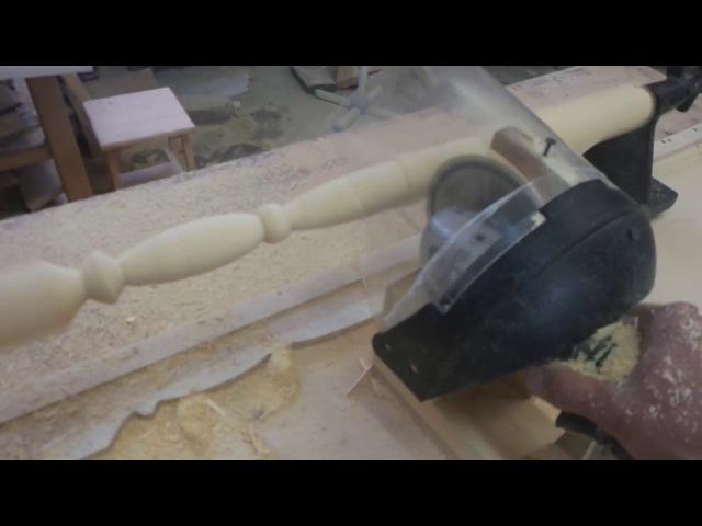 копировальный станок для балясин, самый простой своими руками