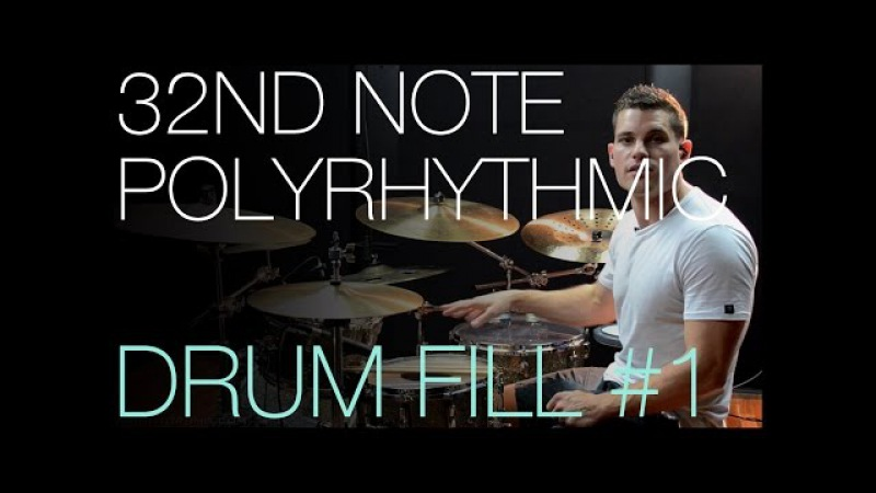 32nd Note Polyrhythmic Fill 1 by Troy Wright - Drum Lesson
