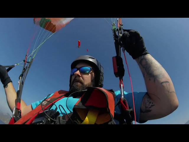 My first Crash paragliding