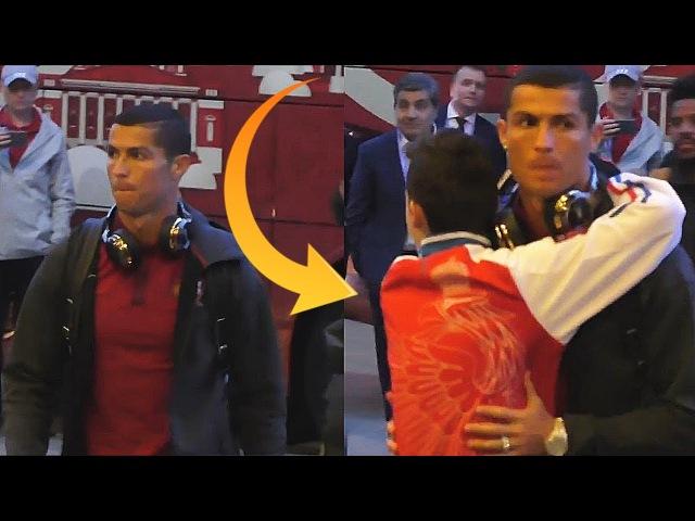 CRAZY Russian Fan Hugs With Cristiano Ronaldo After Match Portugal vs Russia 1-0 - 21.06.2017 HD