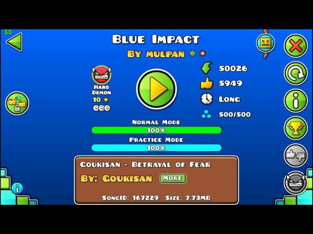 Blue Impact (ReBeat) Easy-medium Demon [60Hz]