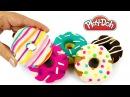 Пластилин Плей До для детей Лепим пончики Поделки из пластилина Play Doh своими р ...