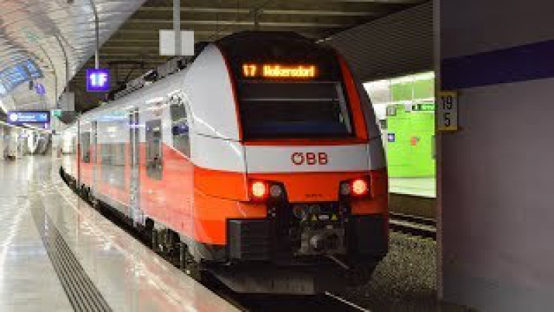 Züge ÖBB cityjet in Flughafen Wien