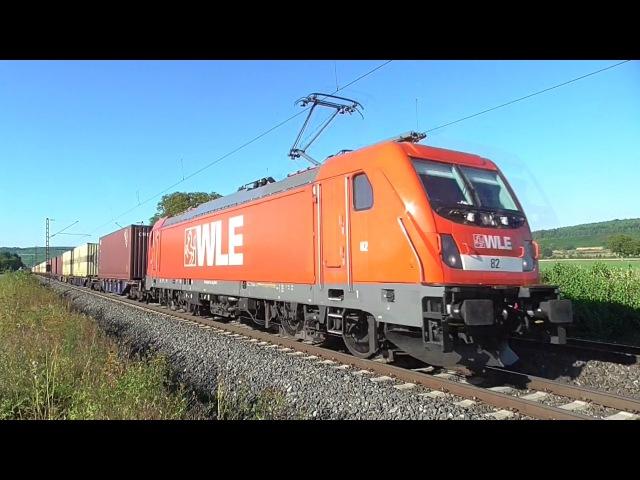 Güterverkehr am 26.08.2016 im Maintal mit Dampf-Güterzug, WLE uvm.