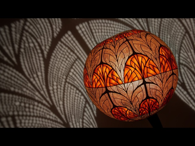 Unique Handcrafted Floor Lamp Nepenthis by Calabarte and Shots From The Process