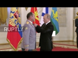 Владимир Путин в Кремле встретился с военным, выполнявшими задачи в Сирии
