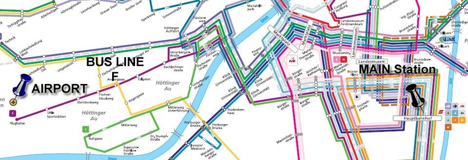 Схема автобусного маршрута F
