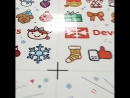 Печатаем наклейкм стикеры к новомугоду. Успейте заказать) до праздников