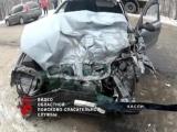 Девушка за рулем грузовика влетела в КАМАЗ.