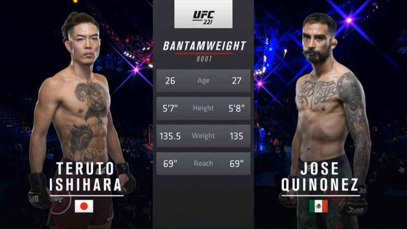 UFC 221 Teruto Ishihara vs Jose Quinonez